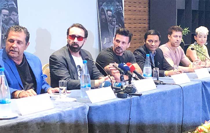 JuJu and the Jiu Jitsu cast at a press conference