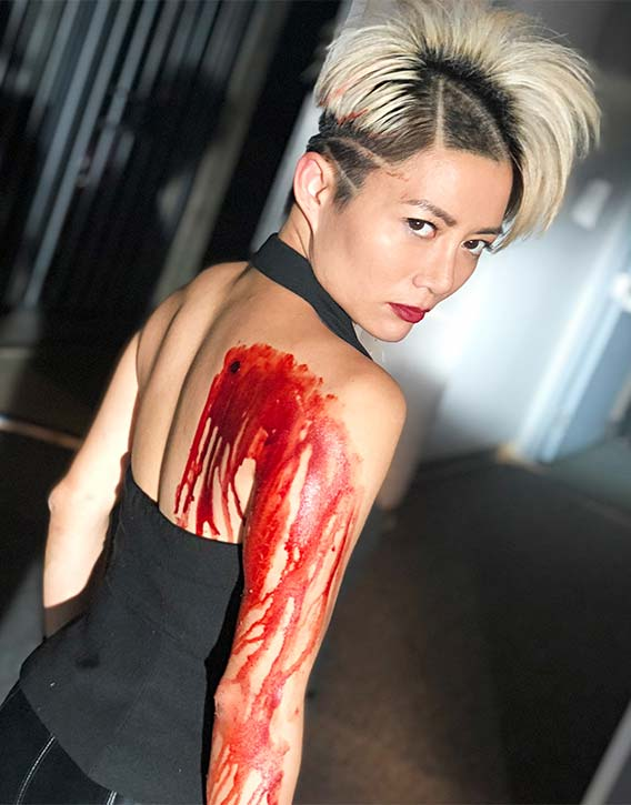 JuJu is unfazed by the cuts and scrapes that come with making Wu Assassins