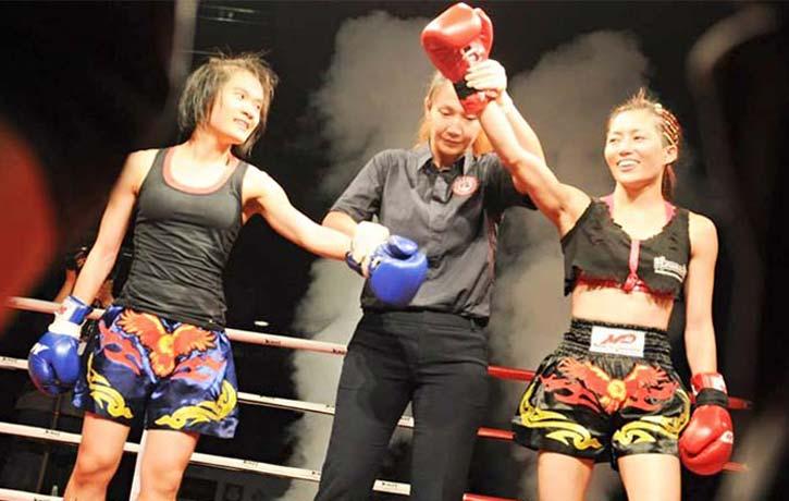 JuJu wins a 2014 Muay Thai Competition 1