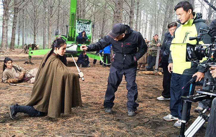 JuJu with Master Yuen Woo Ping in Crouching Tiger Hidden Dragon Sword of Destiny
