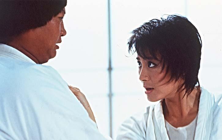 Michelle Yeoh has a cameo as a judo teacher