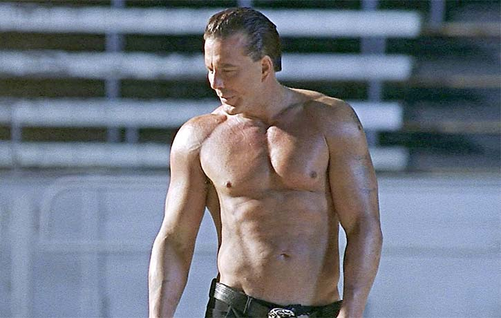 Mickey Rourke is in fantastic shape and makes a formidable opponent