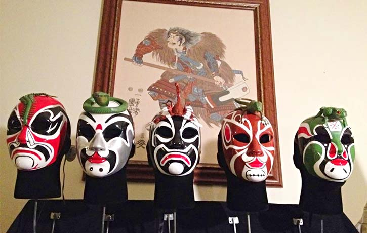The Five Deadly Venom masks