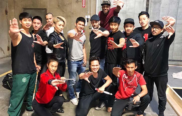 Wu Assassins stunt team