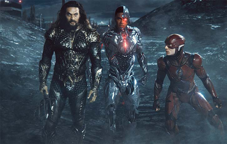 Aquaman Cyborg and The Flash head into the final showdown