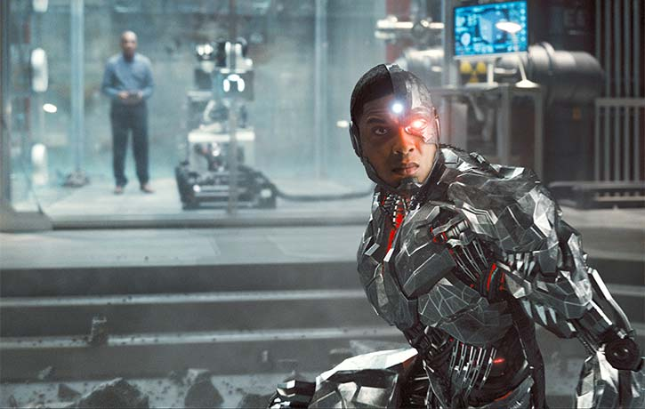 Cyborg comes to his fathers defense