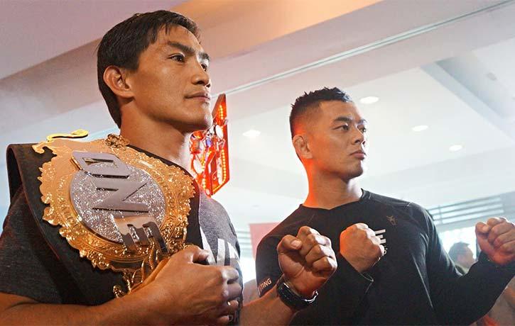 Eduard Folayang preparing to defend his belt against Ev Ting