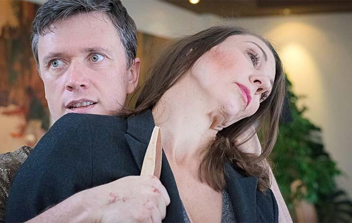 Glamorous actress Sylvia Meadows is taken hostage