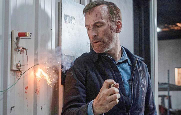 Hutch makes an explosive entrance