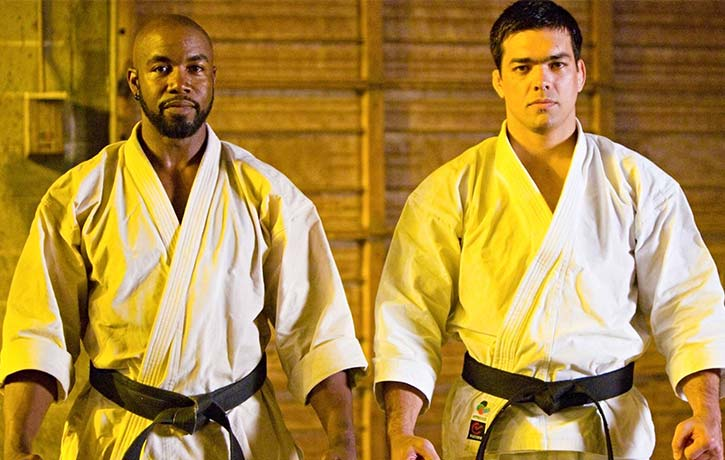 Michael Jai White with Lyoto Machida in NBD 2