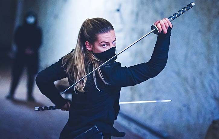 Talented British stuntwoman Phoebe Robinson Galvin features in NBD 4