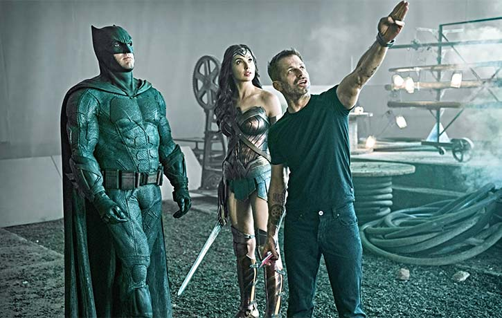 Zack Snyder sets up the next scene with Batman and Wonder Woman