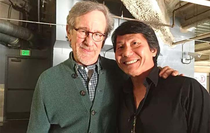 Phil Tan with Steven Spielberg Credit philtanproductions.com
