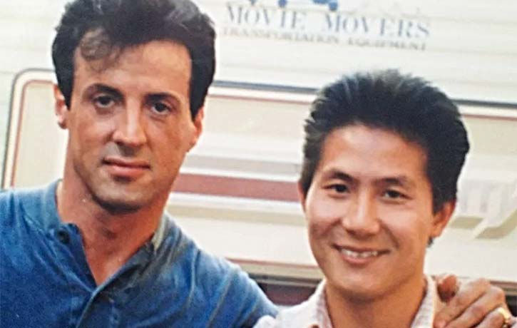 Phil Tan with Sylvester Stallone Credit philtanproductions.com
