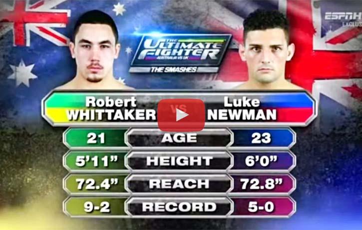 Robert Whittaker vs. Luke Newman - KUNG FU KINGDOM