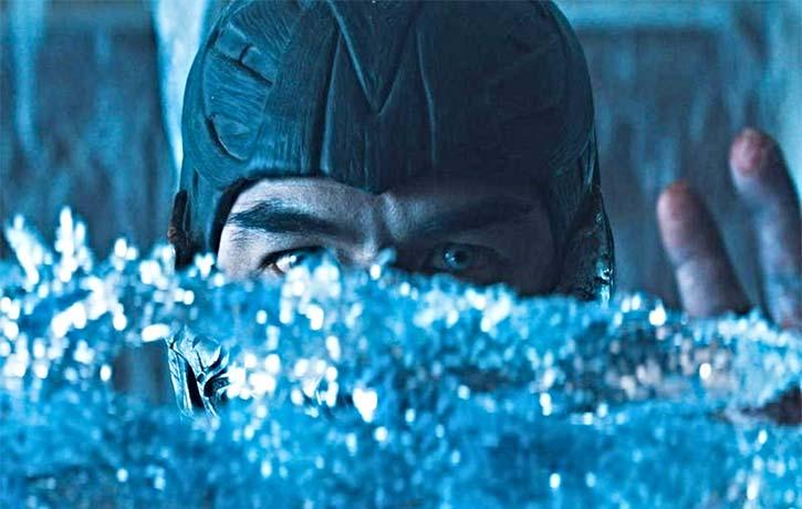 Sub Zero forms his ice sword