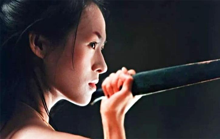 The artistic filming accentuates Zhang Ziyis dance skills