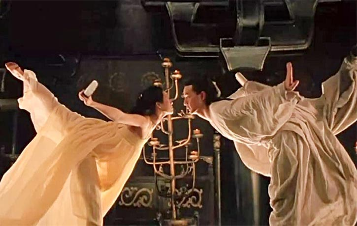 The martial arts action is more akin to beautifully choreographed dancing