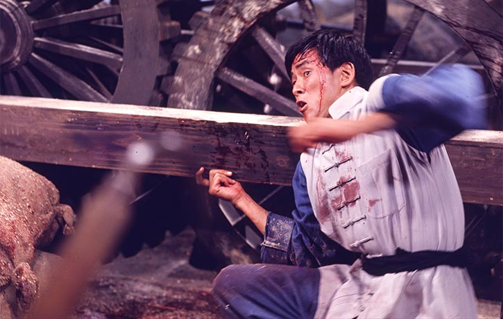 Wang Yu fights energetically