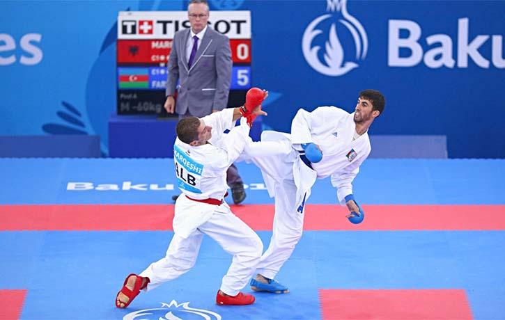 Firdovsi Farzaliyev kicks into the winning spot