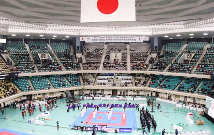 This arena will soon echo with warrior cries of KIAI