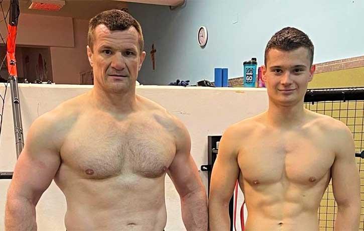 Mirko Cro Cop trains his 18 year old son Ivan