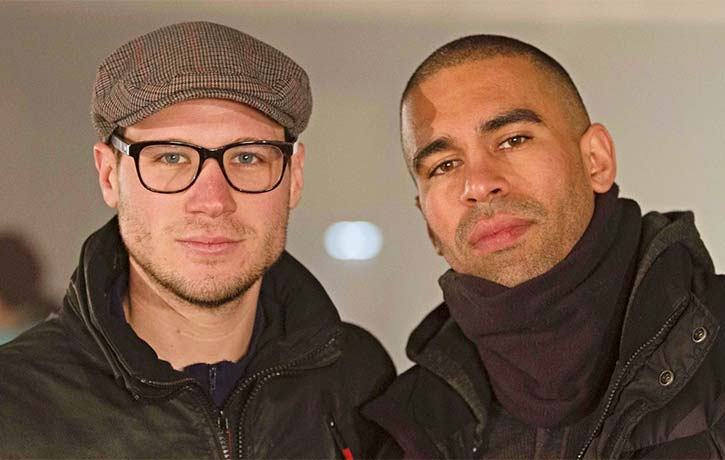James with Joey Ansah on the set of Green Street 3