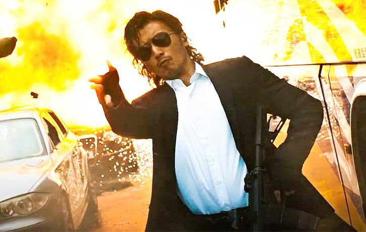 Nicholas Tse as Ngo goes ballistic