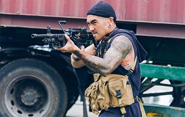Non stop ballistic martial arts cops and gangsters extravaganza
