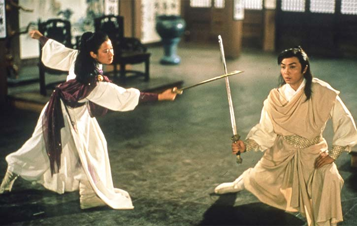 Former ballet dancer Flora Cheong Leen stands out with her beautiful and graceful sword skills