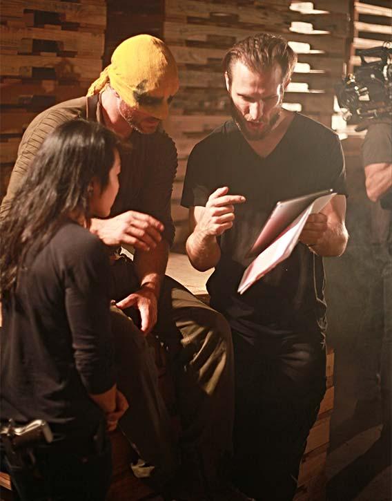 Josh and Christian prepare for the next scene of Immortal 65