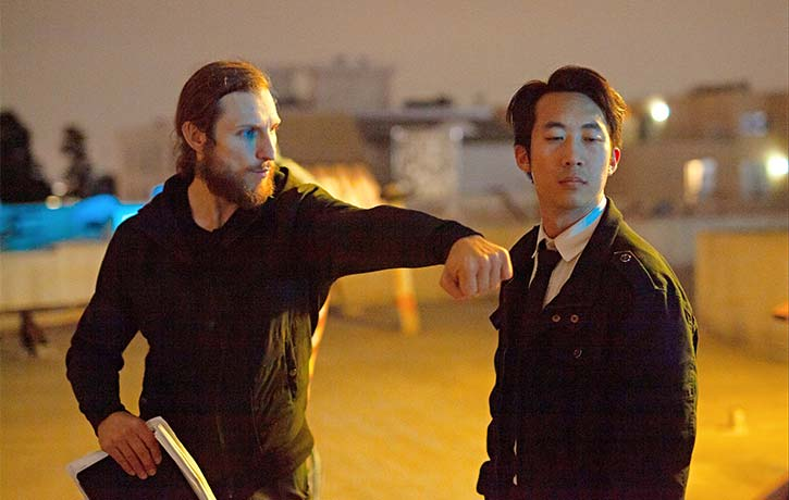 Josh makes sure the fight choreography is sharp and safe