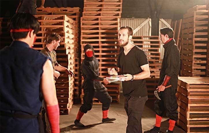 Josh orchestrates a big action scene in Immortal 65